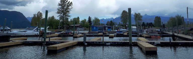 The whole gorgeous view of the Pitt Meadows Marina