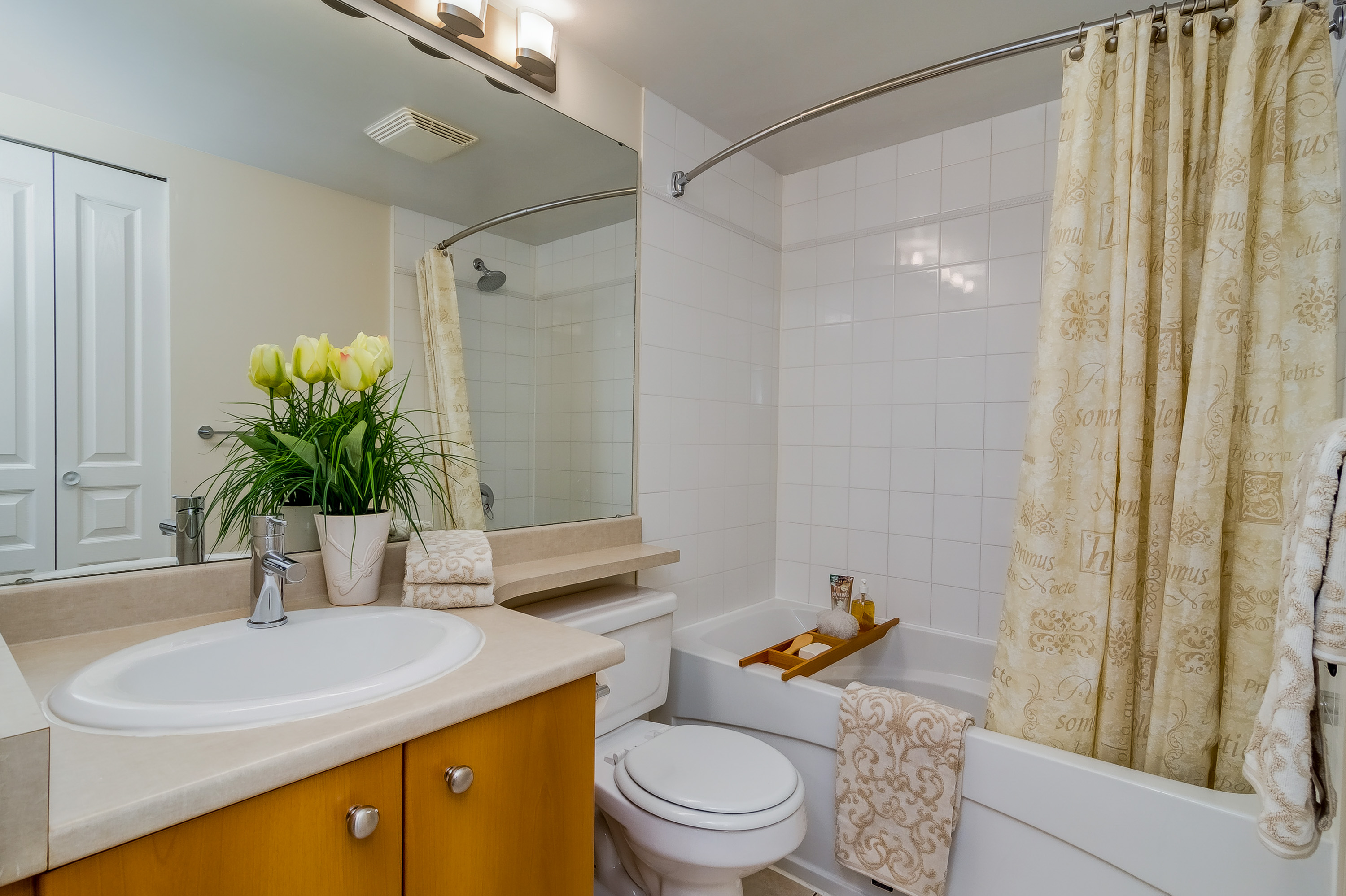 Bathroom in the Northland apartments complex